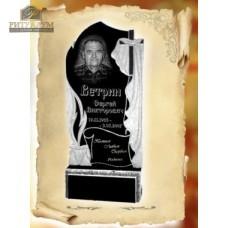"""Памятник из гранита """"Пламя стандарт с крестом"""" — ritualum.ru"""