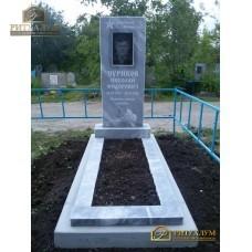 Памятник из мрамора - Прямой   PM0023 — ritualum.ru